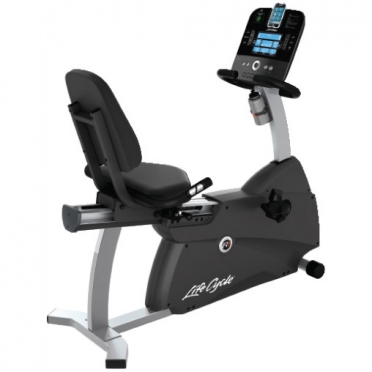 Life Fitness ligfiets recumbent Cycle R1 Track console display