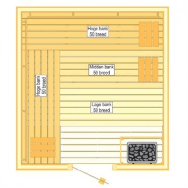 VSB Sauna Prestige (210x225x205)