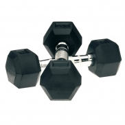 Specificaties Bremshey Dumbbellset HEXA Rubber 2 x 18 kg (08BRSCL193)