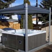 Specificaties Covana Spa Cover elektrisch privacy paviljoen