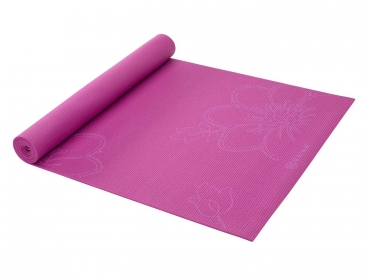 Gaiam Bloom print yogamat - fuchsia (3mm)