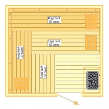 VSB Sauna Prestige (225x210x205)