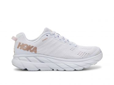Hoka One One Clifton 6 hardloopschoenen wit/goud dames