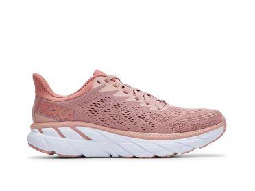 Hoka One One Clifton 7 hardloopschoenen roze dames