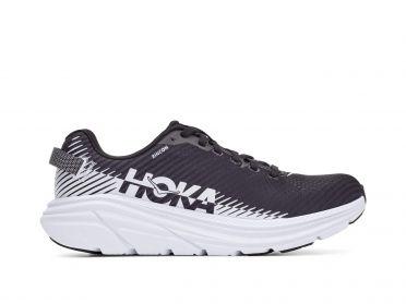 Hoka One One Rincon 2 hardloopschoenen zwart/wit dames