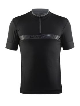 Craft Pulse spinning shirt korte mouw zwart heren