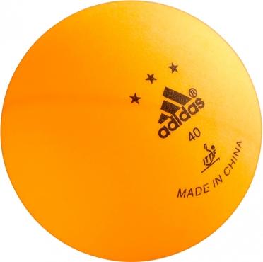 Adidas TT ITTF 3ster 3st oranje ballen