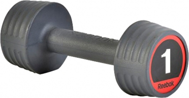 Reebok rubber dumbell 1.0 kg