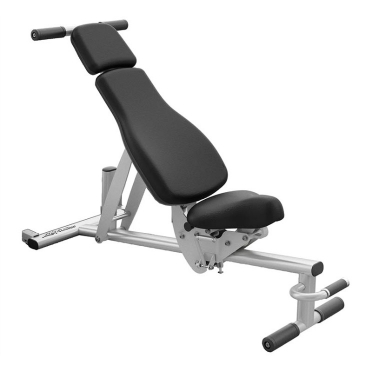 Life Fitness adjustable bench (verrijdbaar)