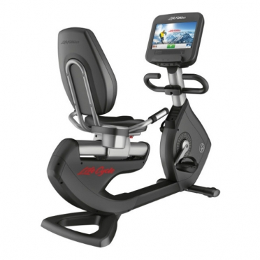 LifeFitness ligfiets Recumbent Bike Platinum Club Series Discover SE WIFI PCSRE Gebruikt