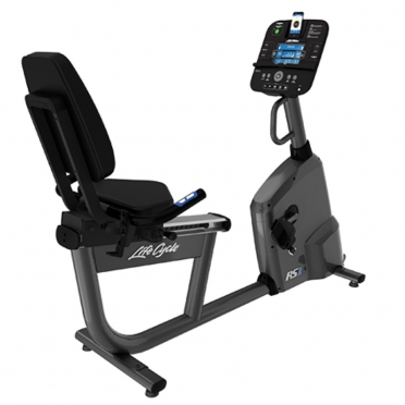 Life Fitness ligfiets RS1 recumbent LifeCycle Track+ console