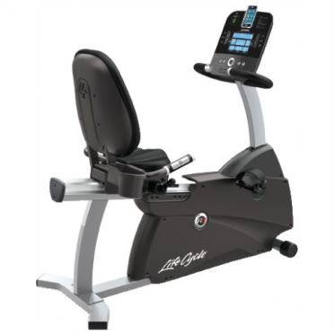 Life Fitness ligfiets recumbent Cycle R3 Track console display