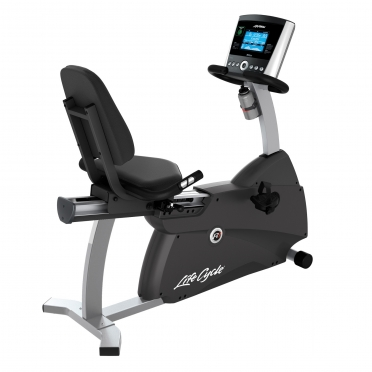 Life Fitness ligfiets recumbent Cycle R1 Go console display