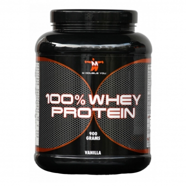 M Double You 100% Whey Protein 900 gram raspberry
