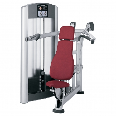 Life Fitness Signature Series Shoulder Press FZSP zwart met zwart Gebruikt