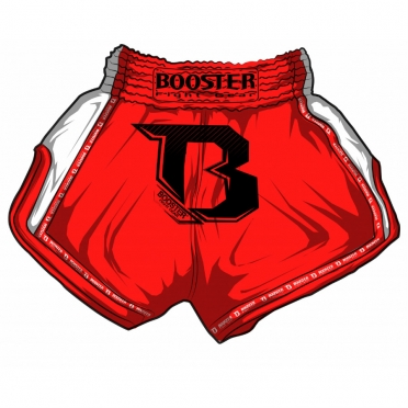 Booster TBT Pro thaiboksbroek rood
