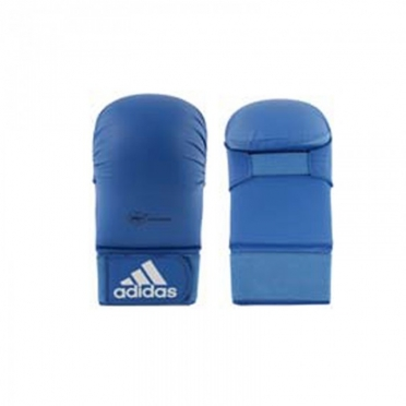 Adidas karate handschoenen WKF blauw zonder duim