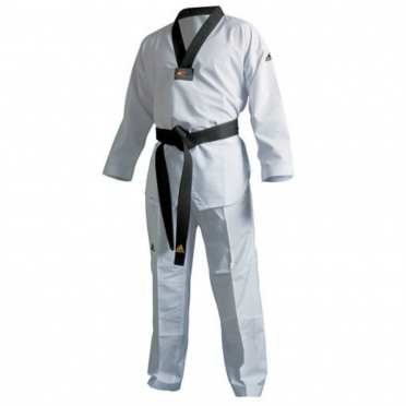 Adidas taekwondopak fighter zwarte revers