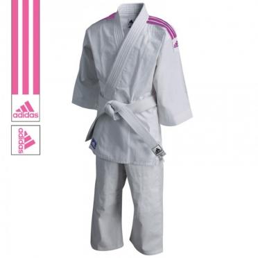 Adidas judopak J200 evolution wit/roze