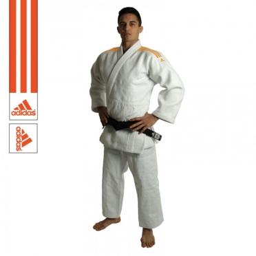 Adidas judopak J990 Millenium wit/oranje