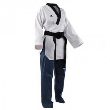Adidas Poomsae taekwondopak dames wit/lichtblauw