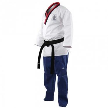 Adidas Poomsae taekwondopak boys wit/lichtblauw