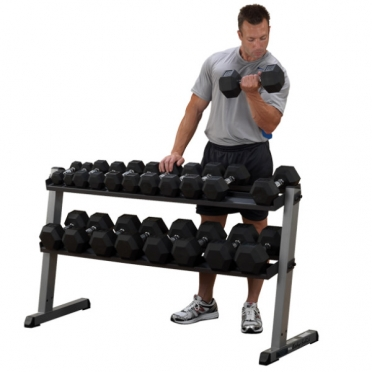 Body Solid Dumbbell rek Pro 2 laags GDR60