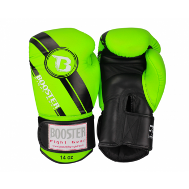 Booster Pro Range BGL V3 leren bokshandschoenen groen