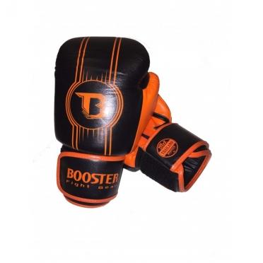 Booster Pro Range BGL V6 leren bokshandschoenen zwart/oranje