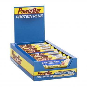 Powerbar Protein plus 33% bar vanille framboos 10 x 90 gram