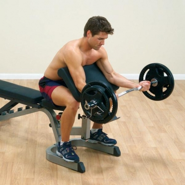 Body-Solid Preacher curl station attachment