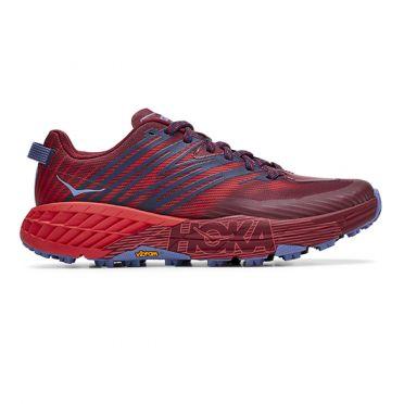 Hoka One One Speedgoat 4 trail hardloopschoenen rood dames
