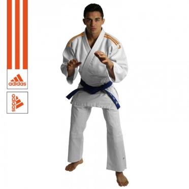Adidas judopak J350 wit/oranje