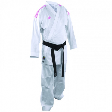 Adidas Karatepak K220KF kumite fighter wit/roze