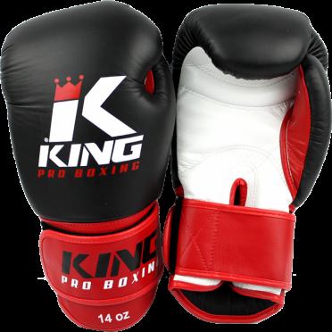 King KPB-1 (kick)bokshandschoenen Pro Boxing zwart/rood