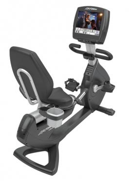 "Life Fitness ligfiets recumbent Platinum Club Series Engage 15"" PCSR Gebruikt"