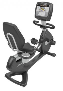 """Life Fitness ligfiets recumbent 95R Inspire 7"""" Elevation Gebruikt"""