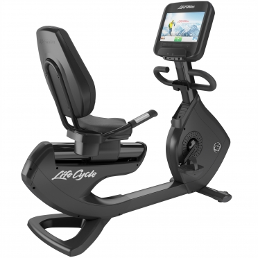 LifeFitness ligfiets Recumbent Platinum Club Series Discover SE Black Onyx