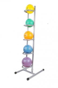 Lifemaxx Medicine Ball Rack compleet met 5 Medicine Balls