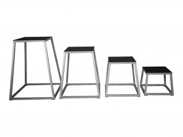 """Lifemaxx Steel plyo box set (12"""", 18"""", 24"""" and 30"""") LMX1298"""