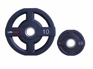 Lifemaxx PU olympische halter schijf 25kg 50mm LMX73