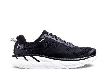 Hoka One One Clifton 6 wide hardloopschoenen zwart/wit heren