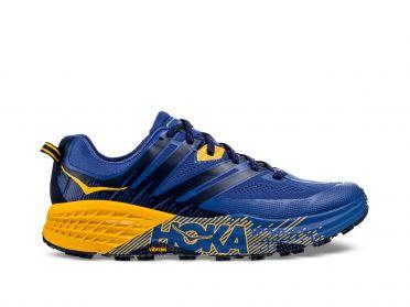 Hoka One One Speedgoat 3 trail hardloopschoenen blauw/geel heren