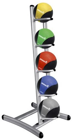 Tunturi Medicinebal standaard compleet met 5 medicijnballen