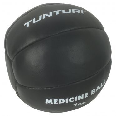 Tunturi Medicine ball Kunstleer 1 kg zwart