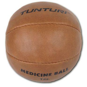 Tunturi Medicine ball Kunstleer 1 kg bruin