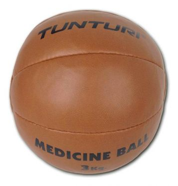 Tunturi Medicine ball Kunstleer 3 kg bruin
