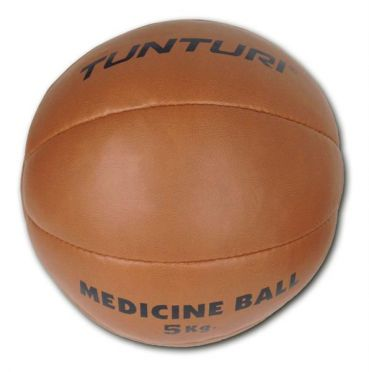 Tunturi Medicine ball Kunstleer 5 kg bruin