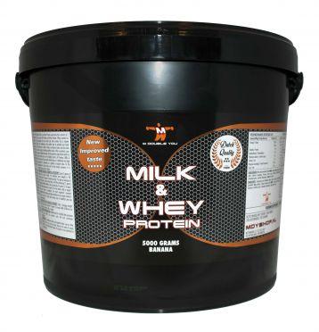 M Double You milk & whey protein banaan 5000 gram