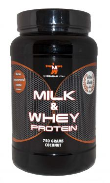 M Double You milk & whey protein kokos 750 gram